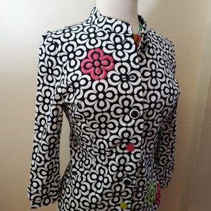 a la carte Jackets & Coats - A La Carte Floral Button Up Jacket Top